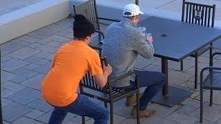 Chair Pulling Prank in USA
