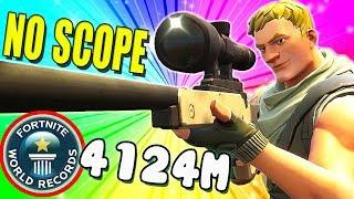 World Record 4000M+  No Scope Sniper | Fortnite Funny and WTF Moments Ep.27