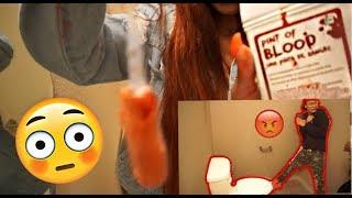 DIRTY TAMPON PRANK ON BOYFRIEND!! **FREAKS OUT**