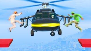 EXTREME MID AIR HELICOPTER HIJACKING! (GTA 5 Funny Moments)