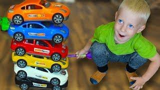 Funny Baby Danya Little Driver playing toys car and Learn Color Cars Nursery Rhymes song For kids