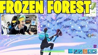 NINJA REACTS to NEW MAP: FROZEN FOREST!! Fortnite Funny Fails and WTF Moments! #12
