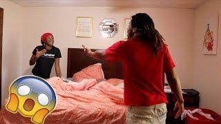 $TD PRANK ON GIRLFRIEND!! (SHE GETS SO MAD)