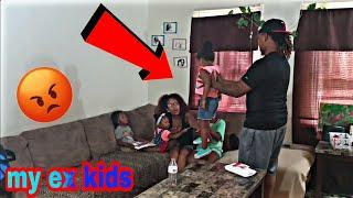 WATCHING EX BOYFRIENDS KIDS PRANK ON BOYFRIEND!!! ( WE BROKE UP)