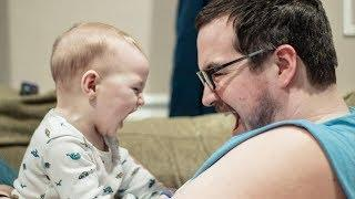 Cute Babies and Daddy Playing Together - Funny Baby Video