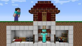 Minecraft Sub Noob vs. Pro : SECRET HOUSE BASE in Funny Minecraft Battle Animation