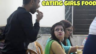 EATING GIRLS FOOD IN WEDDING - PRANK ON GIRLS || BY - MOUZ PRANK