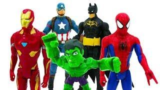 ???????? Funny Superheroes Captain America vs Spiderman vs Iron Man