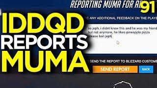 IDDQD Reports Muma for Liking Pineapple on Pizza - Overwatch Funny Moments 91