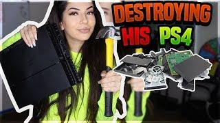 DESTROYING MY BOYFRIEND NIQS PS4 PRANK! (HE GOES CRAZY)