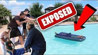 """Von, Justin, Nyyear and Friends Faked """"Roommate Wakes Up In Pool Prank"""" 