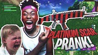 FORTNITE GAVE ME A PLATINUM SCAR!?! BEST FORTNITE APRIL FOOLS PRANK ON ANGRY KID!
