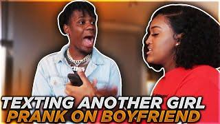 TEXTING ANOTHER GIRL PRANK ON BOYFRIEND FT IAM JUST AIRI & KEE!!!