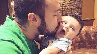 Funny Daddy and Baby Playing Together - Cute Baby Video