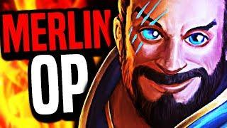 NEW GOD MERLIN IS INSANE (Smite Funny Moments)