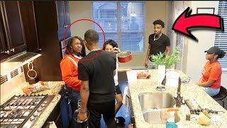 THEY HOUSE INFESTED PRANK ON CARMEN  AND COREY  * I RUINED HIS SNACKS *
