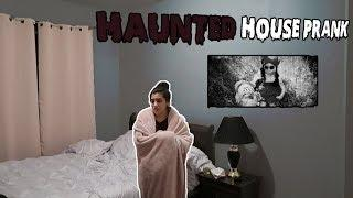 HAUNTED HOUSE PRANK *SHE FREAKS OUT