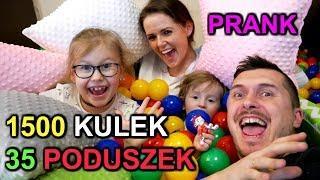 1500 KULEK + 35 PODUSZEK + BASEN + 12 L.O.L. = PRANK * plastic ball prank *