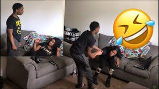 CALLING MY BOYFRIEND ANOTHER NAME PRANK!!! (HILARIOUS)