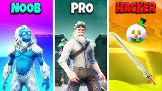 NOOB vs PRO vs HACKER - Fortnite Battle Royale Funny Moments! (Season 7)