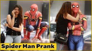 Spider Man Flirting with Cute Girls Prank | The HunGama Films