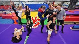 GIRLS VS BOYS FLEXIBILITY COMPETITION! (super funny)