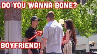 ASKING GIRLS IF THE WANNA BONE PRANK!!
