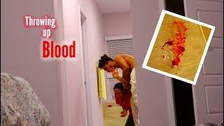THROWING UP BLOOD PRANK WHILE PREGNANT!!