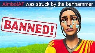 *HACKER* GETS BANNED IN LIVE GAME! - Fortnite Funny Fails and WTF Moments! #524
