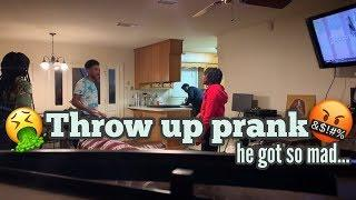 Threw Up Prank (ON SQUEAKY) ????(MUST WATCH)