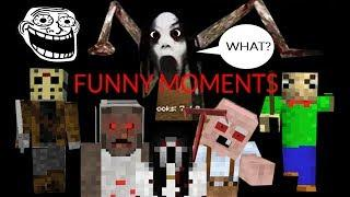 Monster School : ALL FUNNY MOMENTS - Minecraft Animation