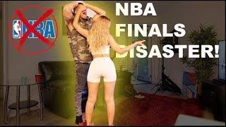 Girlfriend ANNOYING Boyfriend During NBA FINALS Prank!