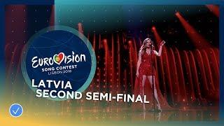 Laura Rizzotto - Funny Girl - Latvia - LIVE - Second Semi-Final - Eurovision 2018