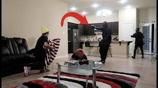 HOME INVASION PRANK ON BROTHER!!