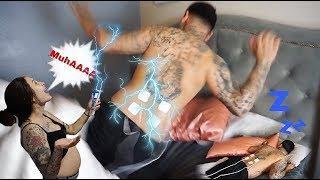 ELECTRIC SHOCK PRANK ON HUSBAND (while Sleeping)