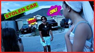 STOLEN CAR PRANK ON A TEENAGER !!!