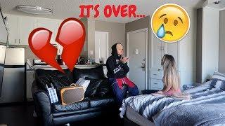 BREAK UP PRANK ON BOYFRIEND! ** HE GETS EMOTIONAL! **