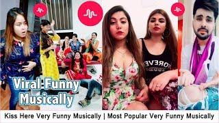 Kiss Here Very Funny Musically | Most Popular Very Funny Musically Videos | #Top5Presents