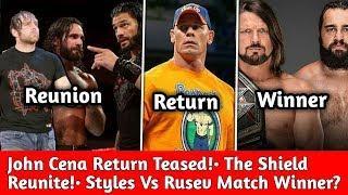 John Cena Big Return Update ! The Shield Reunite Update: Dean Ambrose Returns ! AJ Vs Rusev