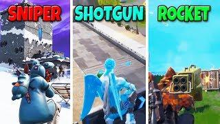 SNIPER vs SHOTGUN vs ROCKET in Fortnite Battle Royale! (Fortnite Funny Fails and Best Moments)