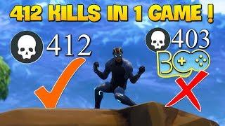 """WORLD RECORD: """"412 Kills in 1 Game"""" 