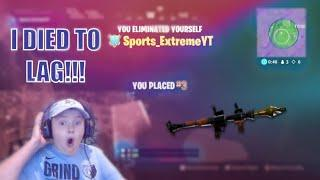 I Died To Lag! Fortnite PS4!