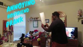 Annoying boyfriend prank on girlfriend