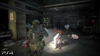 Resident Evil 2 Remake: Hunk No HUD/Damage Gameplay Original Soundtrack (PS4 PRO)