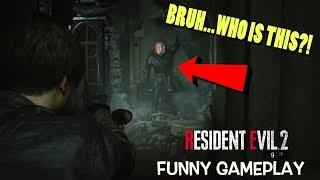 "RAN INTO SHAQ!! ( FUNNY ""RESIDENT EVIL 2, REMAKE"" GAMEPLAY #3)"