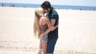 Kissing Prank ♥ Kisses from girls on the beach ♥ Australian Trick PrankInvasion 2019