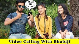 Video Calling With Bhabi Loudly In Public Prank || Prank In India 2019 || Funday Pranks