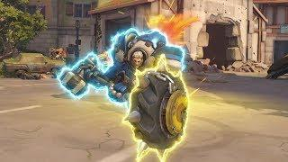 LUCKIEST Way EVER To Kill a Junkrat Tire!! - Overwatch Funny Moments & Best Plays 57