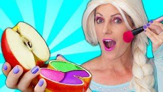 Frozen Elsa Apple Makeup Prank ???? Anna, Maleficent & Spiderman in Real Life
