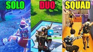 SOLO vs DUO vs SQUAD - Fortnite Battle Royale Funny Moments! #92